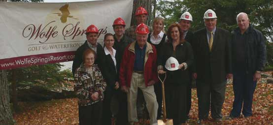 Ground breaking ceremony at Wolfe Springs